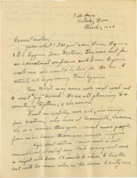 Letter from Grace Rose, Wellesley, Massachusetts, to Mrs. A.G. Rose, Martinsville, Indiana, 1928 March 1