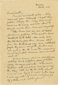 Letter from Grace Rose, Wellesley, Massachusetts, to Mrs. A.G. Rose, Martinsville, Indiana, 1928 November 26