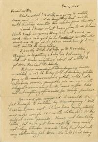 Letter from Grace Rose, Wellesley, Massachusetts, to Mrs. A.G. Rose, Martinsville, Indiana, 1928 December 1