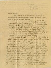 Letter from Grace Rose, Wellesley, Massachusetts, to Mrs. A.G. Rose, Martinsville, Indiana, 1928 December 12-1928 December 14