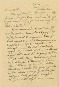 Letter from Grace Rose, Wellesley, Massachusetts, to Mrs. A.G. Rose, Martinsville, Indiana, 1929 April 15