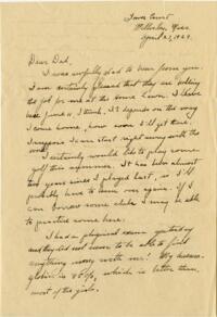 Letter from Grace Rose, Wellesley, Massachusetts, to Mr. A.G. Rose, Martinsville, Indiana, 1929 April 27-1927 April 8