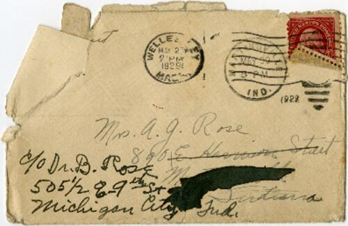 Letter from Grace Rose, Cambridge, Massachusetts, to Dr. B. Rose, Michigan City, Indiana, 1929 May 25