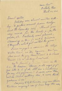 Letter from Grace Rose, Wellesley, Massachusetts, to Mrs. A.G. Rose, Martinsville, Indiana, 1930 March 26