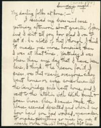 Letter from Ruby Willis, Wellesley, Massachusetts, to Dr. and Mrs. William H. Willis, Reading, Massachusetts, 1905 October 22