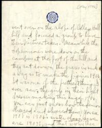 Letter from Ruby Willis, Wellesley, Massachusetts, to Dr. and Mrs. William H. Willis, Reading, Massachusetts, 1905 May