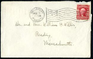 Letter from Ruby Willis, Wellesley, Massachusetts, to Dr. and Mrs. William H. Willis, Reading, Massachusetts, 1907 February 25