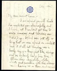 Letter from Ruby Willis, Wellesley, Massachusetts, to Dr. and Mrs. William H. Willis, Reading, Massachusetts, 1906 November