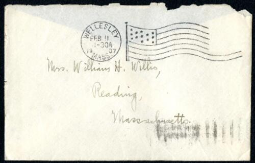 Letter from Ruby Willis, Wellesley, Massachusetts, to Dr. and Mrs. William H. Willis, Reading, Massachusetts, 1907 February 11