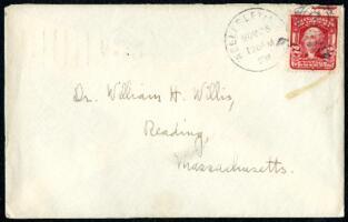 Letter from Ruby Willis, Wellesley, Massachusetts, to Dr. and Mrs. William H. Willis, Reading, Massachusetts, 1906 November 26