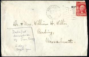 Letter from Ruby Willis, Wellesley, Massachusetts, to Dr. and Mrs. William H. Willis, Reading, Massachusetts, 1907 June 9