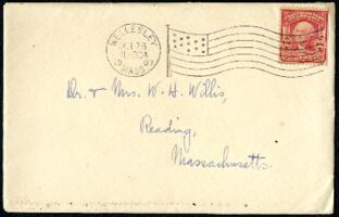 Letter from Ruby Willis, Wellesley, Massachusetts, to Dr. and Mrs. William H. Willis, Reading, Massachusetts, 1907 October 28