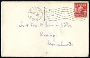 Letter from Ruby Willis, Wellesley, Massachusetts, to Dr. and Mrs. William H. Willis, Reading, Massachusetts, 1907 November 4
