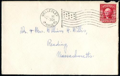 Letter from Ruby Willis, Wellesley, Massachusetts, to Dr. and Mrs. William H. Willis, Reading, Massachusetts, 1907 December 15