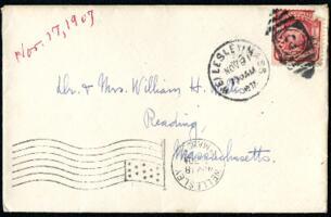 Letter from Ruby Willis, Wellesley, Massachusetts, to Dr. and Mrs. William H. Willis, Reading, Massachusetts, 1907 November 17