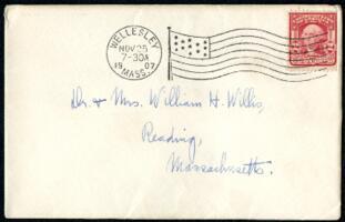 Letter from Ruby Willis, Wellesley, Massachusetts, to Dr. and Mrs. William H. Willis, Reading, Massachusetts, 1907 November 24