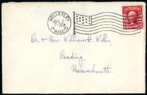 Letter from Ruby Willis, Wellesley, Massachusetts, to Dr. and Mrs. William H. Willis, Reading, Massachusetts, 1907 December 1