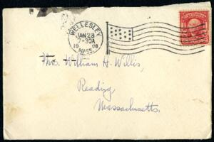 Letter from Ruby Willis, Wellesley, Massachusetts, to Mrs. William H. Willis, Reading, Massachusetts, 1908 January 22