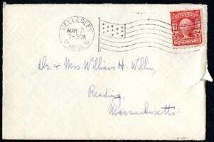 Letter from Ruby Willis, Wellesley, Massachusetts, to Dr. and Mrs. William H. Willis, Reading, Massachusetts, 1908 March 1