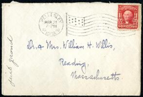 Letter from Ruby Willis, Wellesley, Massachusetts, to Dr. and Mrs. William H. Willis, Reading, Massachusetts, 1908 March 21