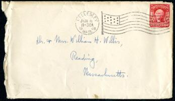 Letter from Ruby Willis, Wellesley, Massachusetts, to Dr. and Mrs. William H. Willis, Reading, Massachusetts, 1908 June 7