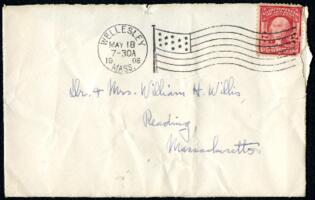 Letter from Ruby Willis, Wellesley, Massachusetts, to Dr. and Mrs. William H. Willis, Reading, Massachusetts, 1908 May 17