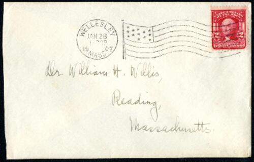 Letter from Ruby Willis, Wellesley, Massachusetts, to Dr. and Mrs. William H. Willis, Reading, Massachusetts, 1907 January 28