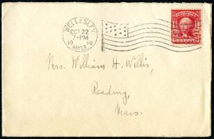 Letter from Ruby Willis, Wellesley, Massachusetts, to Mrs. Willis, Reading, Massachusetts, 1908 October 6