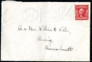 Letter from Ruby Willis, Wellesley, Massachusetts, to Dr. and Mrs. William H. Willis, Reading, Massachusetts, 1908 December 6