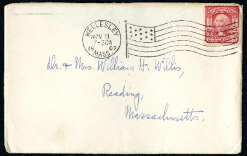 Letter from Ruby Willis, Wellesley, Massachusetts, to Dr. and Mrs. William H. Willis, Reading, Massachusetts, 1907 November 10