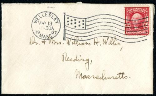 Letter from Ruby Willis, Wellesley, Massachusetts, to Dr. and Mrs. William H. Willis, Reading, Massachusetts, 1907 May 13