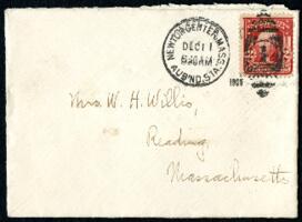 Letter from Ruby Willis, Auburndale, Massachusetts, to Mrs. William H. Willis, Reading, Massachusetts, 1908 December 11