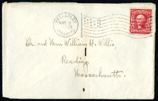 Letter from Ruby Willis, Wellesley, Massachusetts, to Dr. and Mrs. William H. Willis, Reading, Massachusetts, 1907 March 10
