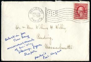 Letter from Ruby Willis, Wellesley, Massachusetts, to Dr. and Mrs. William H. Willis, Reading, Massachusetts, 1909 January 24