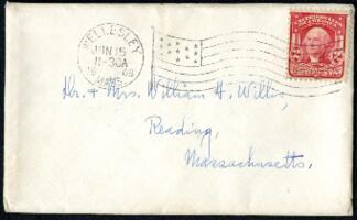 Letter from Ruby Willis, Wellesley, Massachusetts, to Dr. and Mrs. William H. Willis, Reading, Massachusetts, 1908 June 14