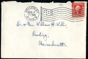 Letter from Ruby Willis, Wellesley, Massachusetts, to Dr. and Mrs. William H. Willis, Reading, Massachusetts, 1908 February 16