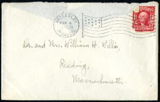 Letter from Ruby Willis, Wellesley, Massachusetts, to Dr. and Mrs. William H. Willis, Reading, Massachusetts, 1907 March 4