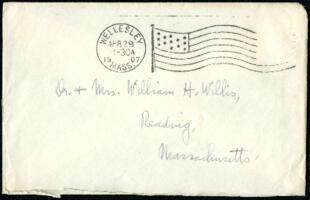 Letter from Ruby Willis, Wellesley, Massachusetts, to Dr. and Mrs. William H. Willis, Reading, Massachusetts, 1907 April 29