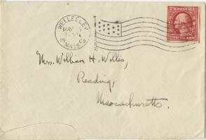 Letter from Ruby Willis, Wellesley, Massachusetts, to Mrs. William H. Willis, Reading, Massachusetts, 1909 May 9