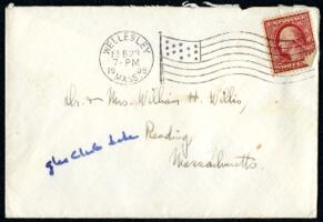 Letter from Ruby Willis, Wellesley, Massachusetts, to Dr. and Mrs. William H. Willis, Reading, Massachusetts, 1909 February 23