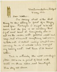 Letter from Mary Rosa, Rockport, Massachusetts, to her mother, 1913 May 4