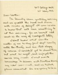 Letter from Mary Rosa, Wellesley, Massachusetts, to her mother, 1913 May 25