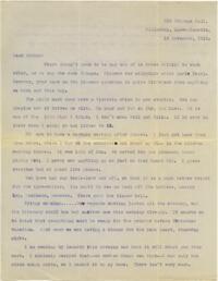 Letter from Mary Rosa, Wellesley, Massachusetts, to her mother, 1913 November 13