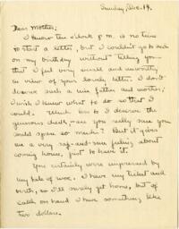 Letter from Mary Rosa, Wellesley, Massachusetts, to her mother, 1913 December 14