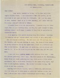 Letter from Mary Rosa, Wellesley, Massachusetts, to her mother, 1914 January 15