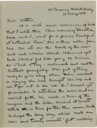 Letter from Mary Rosa, Wellesley, Massachusetts, to her mother, 1914 May 10