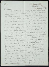 Letter from May-ling Soong Chiang, Shanghai, China, to Emma Mills 1918 January 13