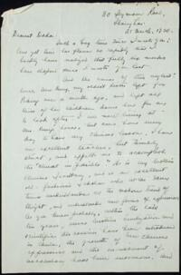 Letter from May-ling Soong Chiang, Shanghai, China, to Emma Mills 1920 March 21