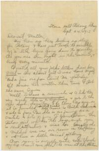 Letter From Eleanor Blair, Wellesley, Massachusetts, to Mrs. D.C. Blair, Montour Falls, New York, 1913 September 24