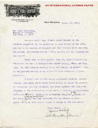 Letter from James Boyd, New Orleans, Louisiana, to Hugh S. Fullerton, New York, New York : typed manuscript signed, 1925 August 21